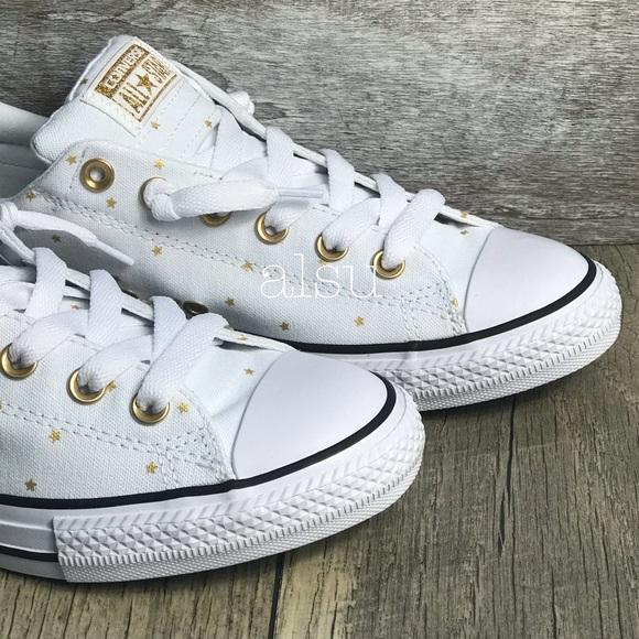 86124f2a Converse Shoes   Ctas Street Slip Whitegold Stars Wmns   Poshmark